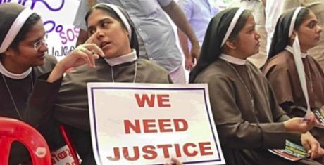 Nuns protesting in Kerala