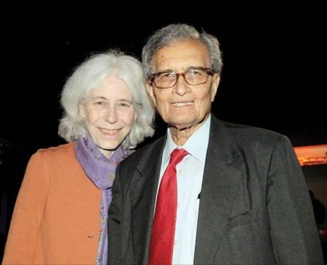 Amartya Sen and wife Emma Rothschild