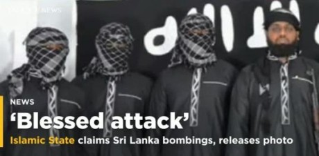 ISIS claims responsibility for Sri Lam bombings.
