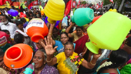 Water crisis protest in Chennai