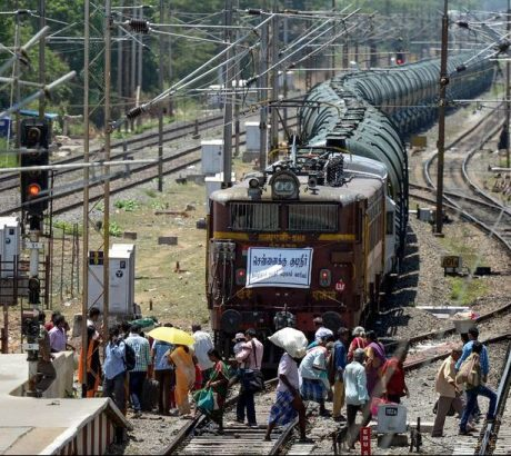 Water train from Jolarpet to Chennai