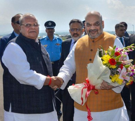 Amit Shah with Satya Pal Malik (June 2019)