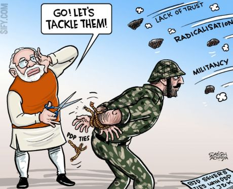 Modi-Kashmir Cartoon