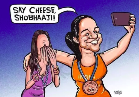 Shobhaa De Cartoon
