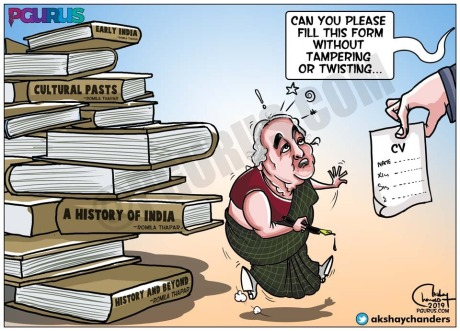 Romila Thapar Cartoon