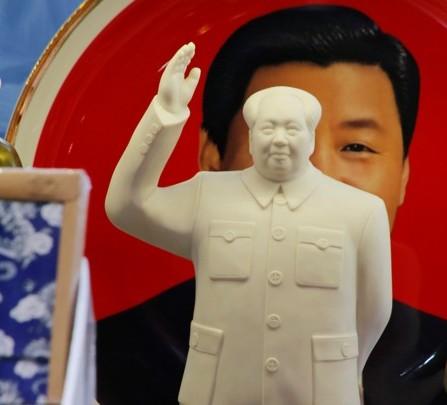 Xi hiding behind Mao