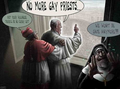 No more gay priests!