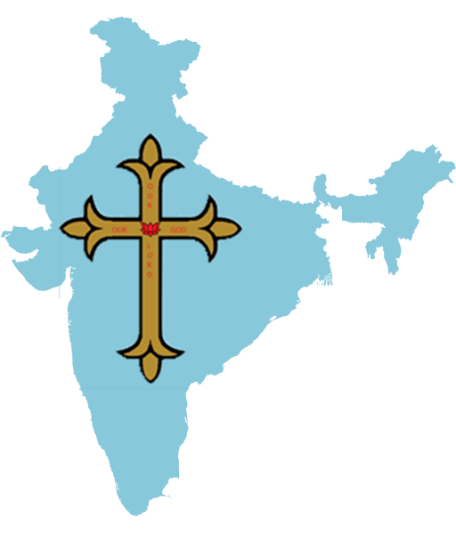 India map with cross