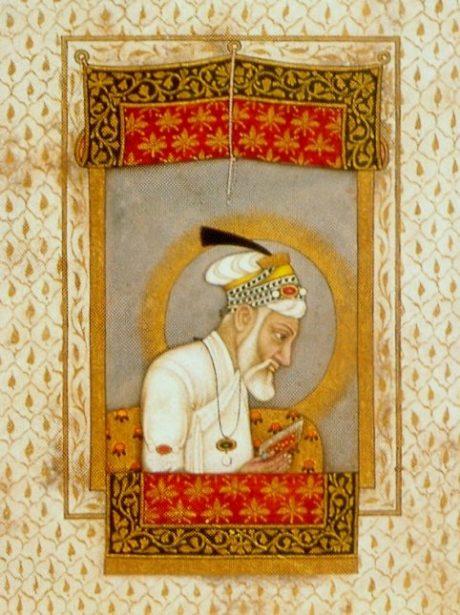 Aurangzeb reading the Koran