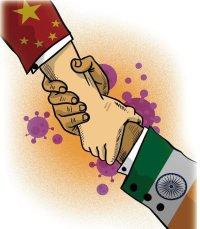 China's Global Times cartoon PATRONISING India