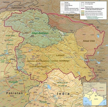 Map of Kashmir & Aksai Chin