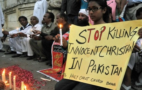 Christian protest in Pakistan