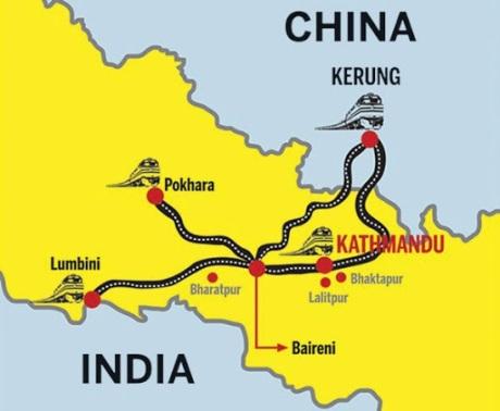 China-Nepal Railway Map