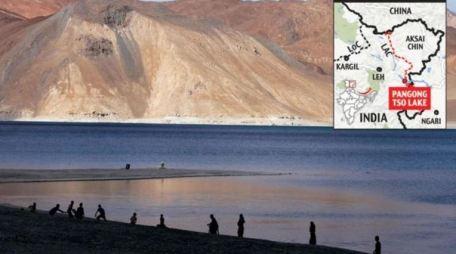 Pangong Tso Lake in Ladakh