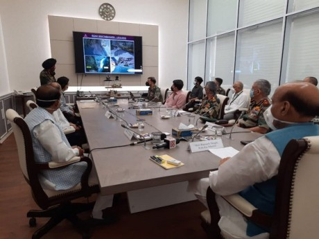 Rajnath Singh inaugurates link road to Kailash Mansarovar by video conferencing (May 2020).
