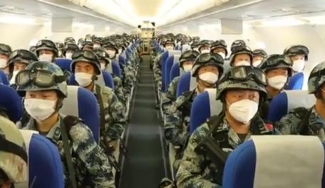 Chinese troops prepare for Ladakh (June 2020)