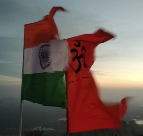 India Flag and Bhagwa Dhwaj