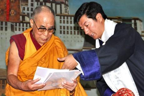 Dalai Lama & Lobsang Sangay