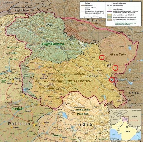 CIA map of the J&K Ladakh region.