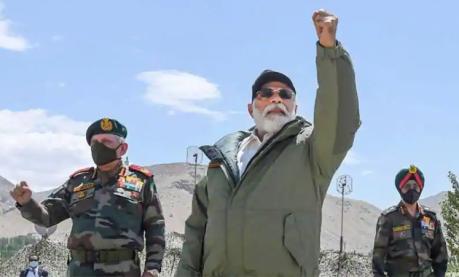 PM Modi in Ladakh (3 July 2020)