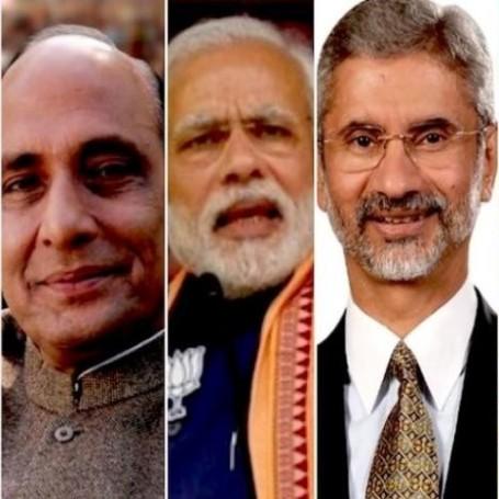 MD Rajnath Singh, PM Narendra Modi, MEA Subrahmanyam Jaishankar