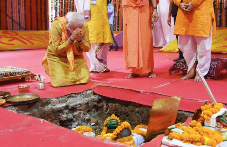 Ram Temple bhumi puja concludes.