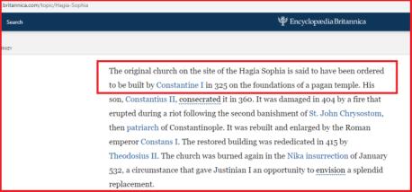 EB Hagia Sofia Church Quote