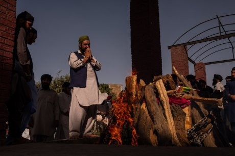 Sikh Cremation in Kabul