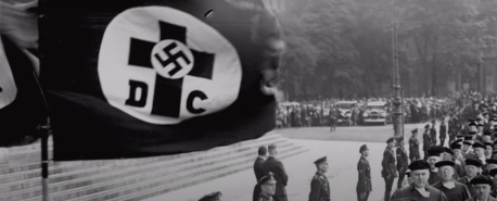 Christian cross and Nazi cross joined together (Germany ca. 1930).