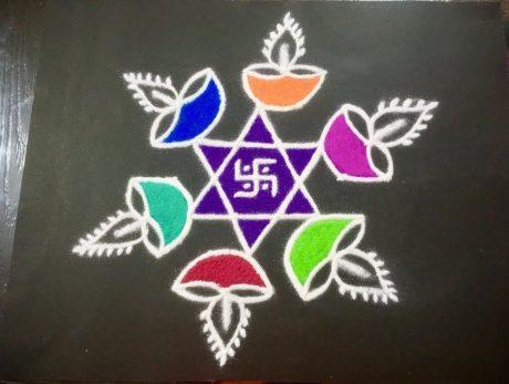 Swastika Rangoli