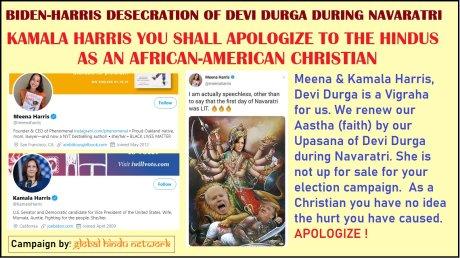 Biden-Harris-Durga Political Poster.