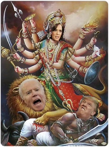 Harris-Biden-Durga Poster