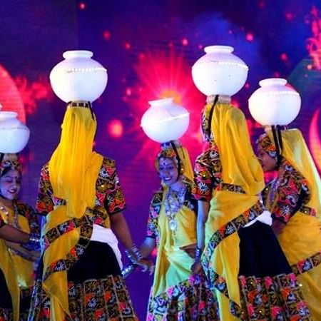 Garba dance with pots in Gujarat