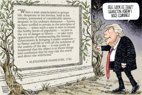 Hamilton on Trump