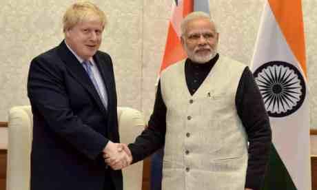 Boris Johnson & Narendra Modi