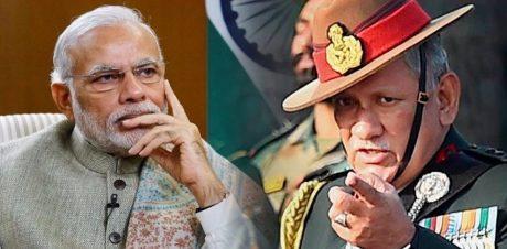 Narendra Modi & Bipin Rawat