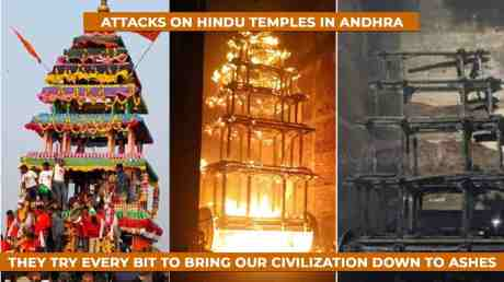 Temple cars burned in AP.