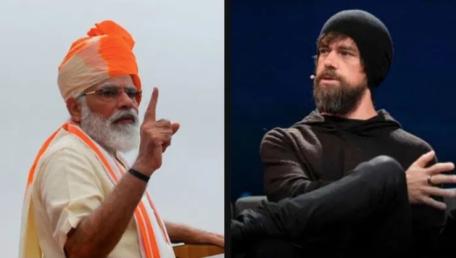 Narendra Modi & Jack Dorsey