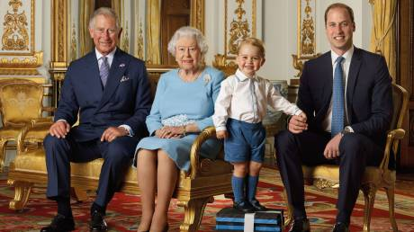 Charles, Elizabeth, William & George Windsor