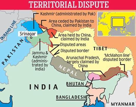 India-China Border in Himalayas