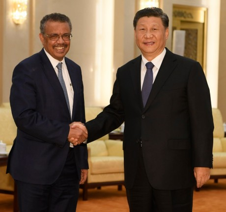 WHO Director General Tedros Adhanom & Chinese President Xi Jinping.