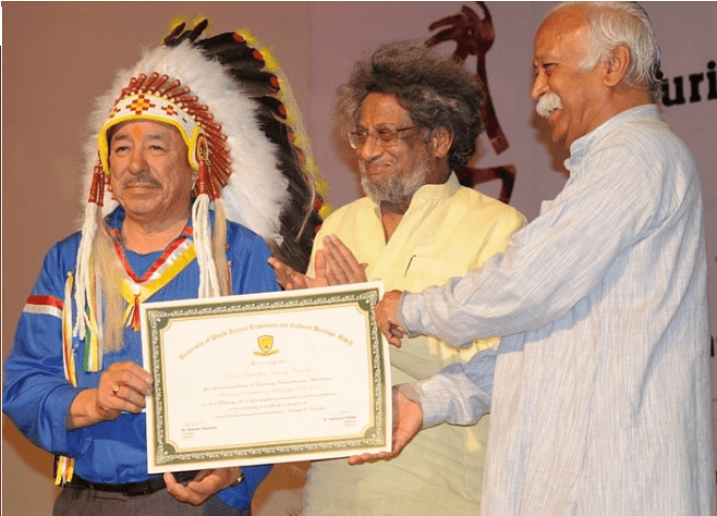 The Elders' Conferences conducted to preserve global theo-diversity and natural spiritual traditions by the Sangh has its roots in the vision and wisdom of Ram Swarup.