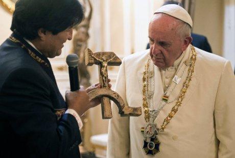 Francis and Evo Morales