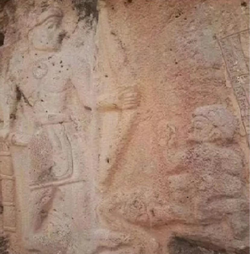 Stone relief in Iraq