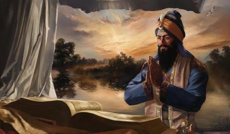 Greeting the Granth Sahib