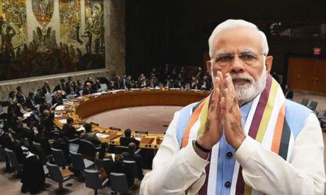 India PM Modi at the UNSC.