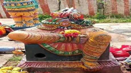 Siruvachur Madura Kaliamman Temple images desecrated (Oct. 7, 2021).
