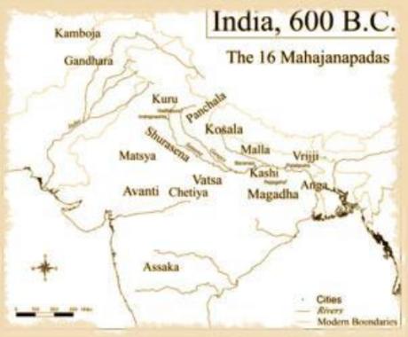 India Map 600 BCE